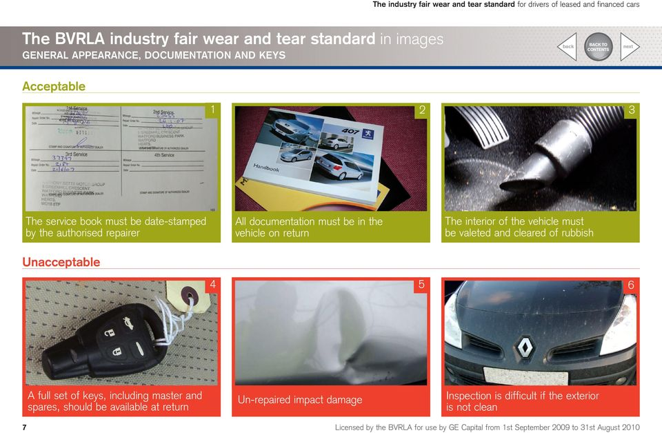the industry fair wear and tear standard for drivers of leased and