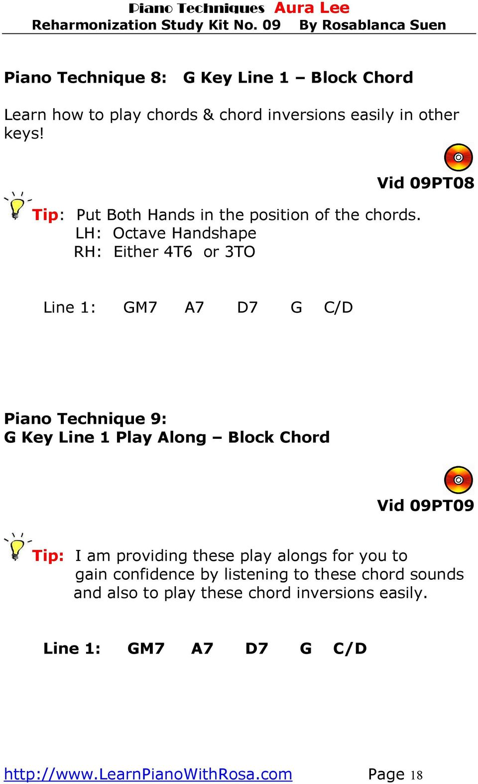 Study Kit No 9 Aura Lee Love Me Tender Pdf The Chord Symble A7 Above A Bar It Means We Have To Play Lh Octave Handshape Rh Either 4t6 Or 3to Vid 09pt08 Line 1 Gm7