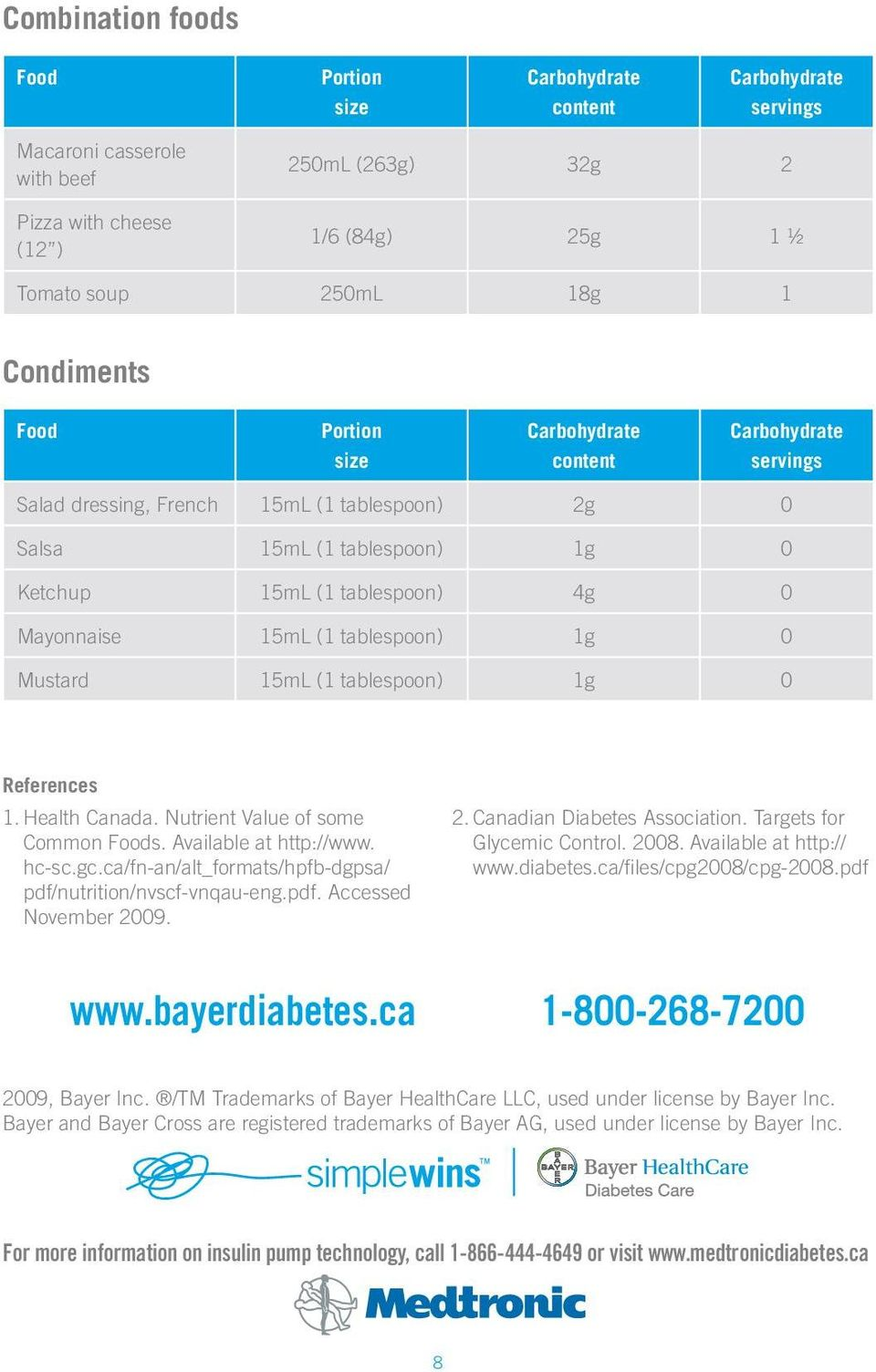 Available at http://www. hc-sc.gc.ca/fn-an/alt_formats/hpfb-dgpsa/ pdf/nutrition/nvscf-vnqau-eng.pdf. Accessed November 2009. 2. Canadian Diabetes Association. Targets for Glycemic Control. 2008.