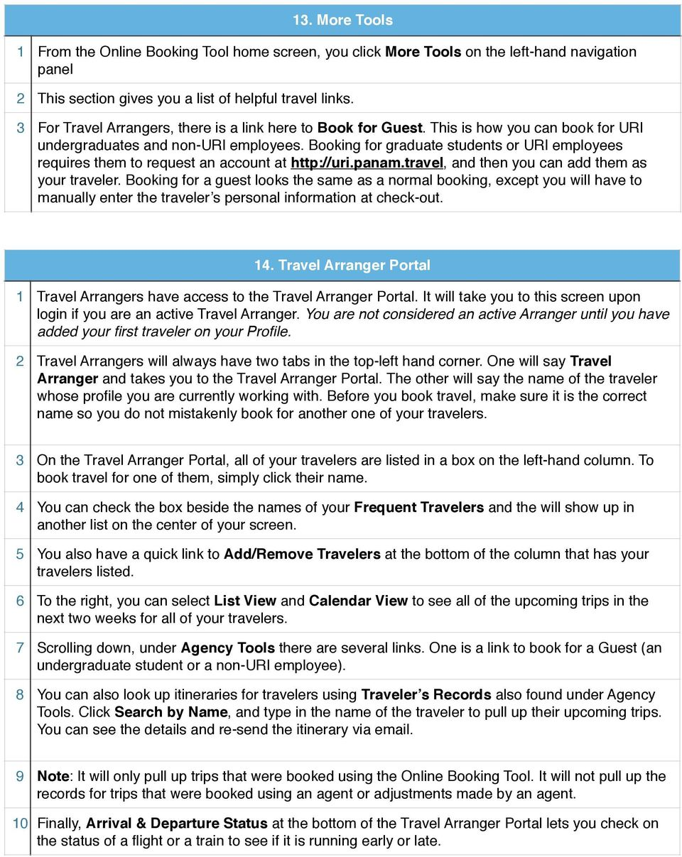 Guide to PanAm Agent and Online Booking Tool Services! - PDF