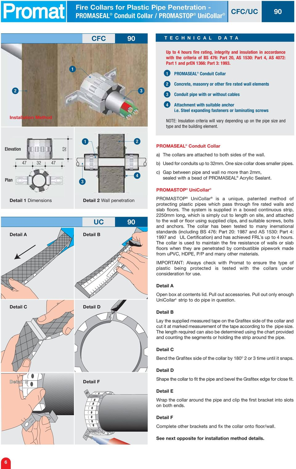 Fire Collars For Plastic Pipe Penetration - PDF
