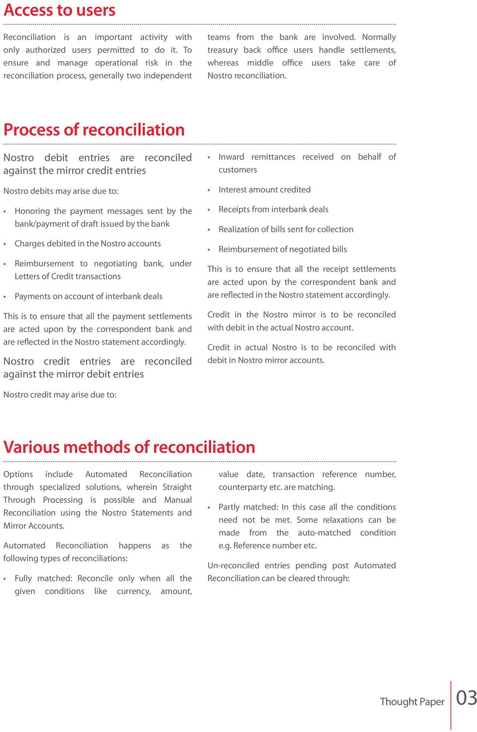 Nostro reconciliation: how it works in a bank - PDF