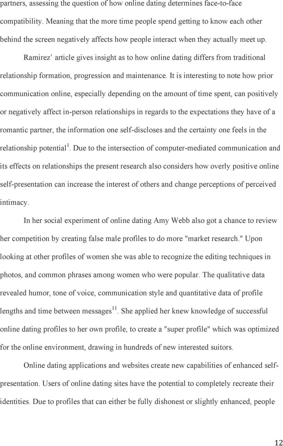 Recent articles on how online dating affects communication