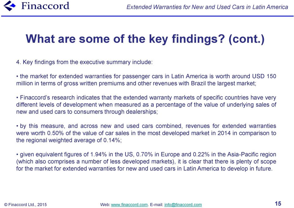 Extended Warranties For New And Used Cars In Latin America Pdf
