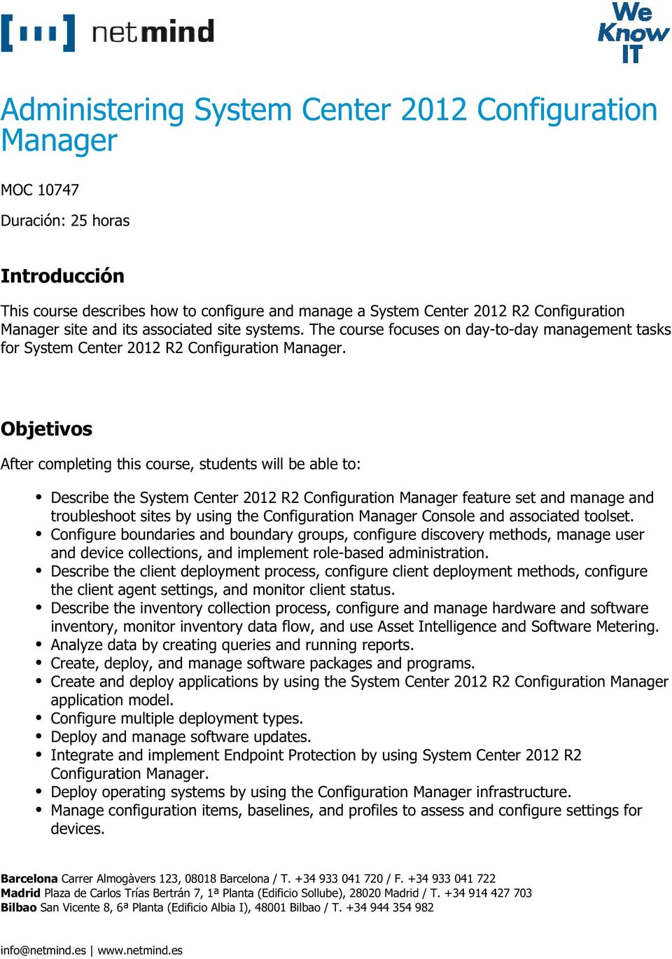 Administering System Center 2012 Configuration Manager - PDF