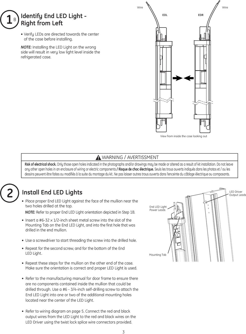 Immersion Oem Installation Guide Ge Lighting Imagination At Work Led Component Wiring Diagram Only Those Open Holes Indicated In The Photographs And Or Drawings May Be Made
