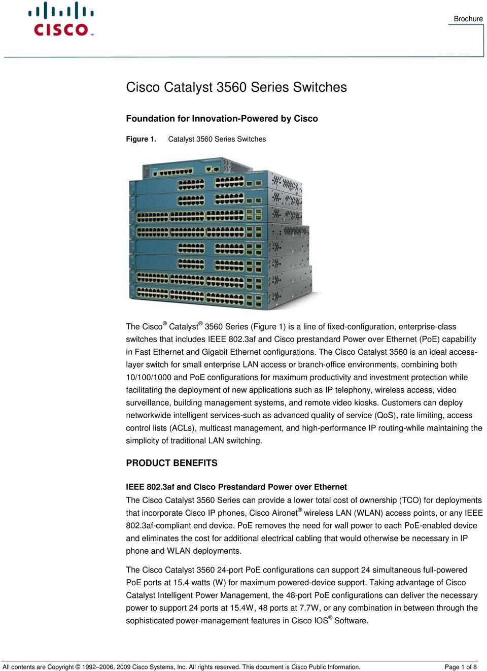 Catalyst 3560 Series Switches - PDF