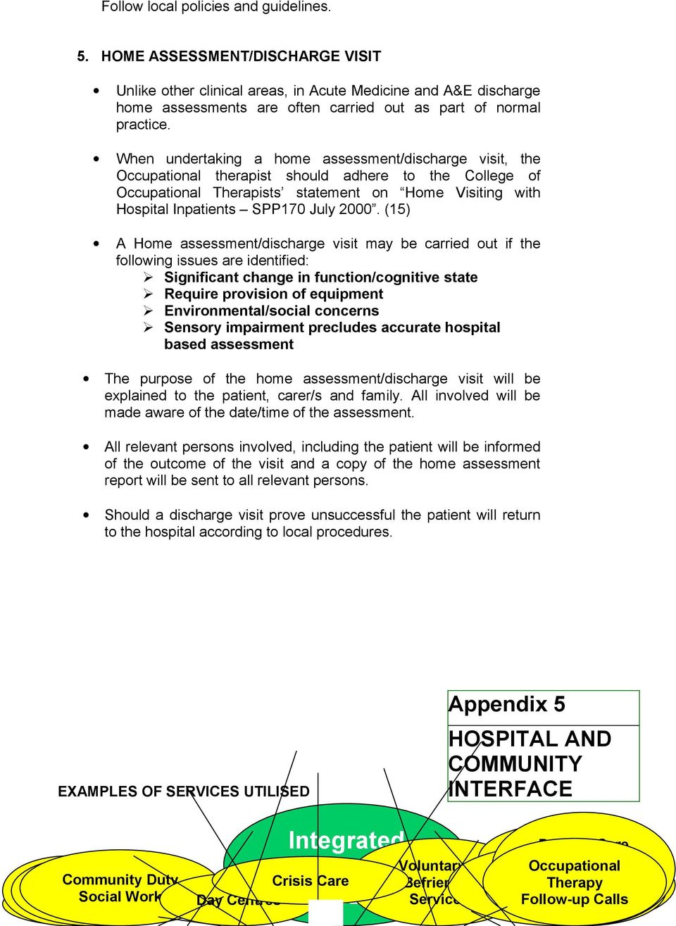 Occupational Therapy Best Practice Guidelines For Acute