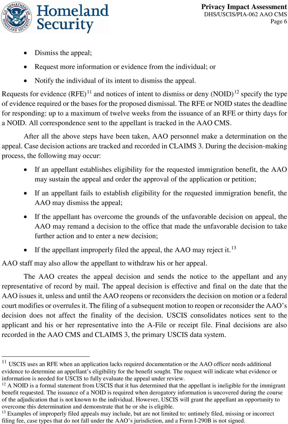 Administrative Appeals Office (AAO) Case Management System - PDF