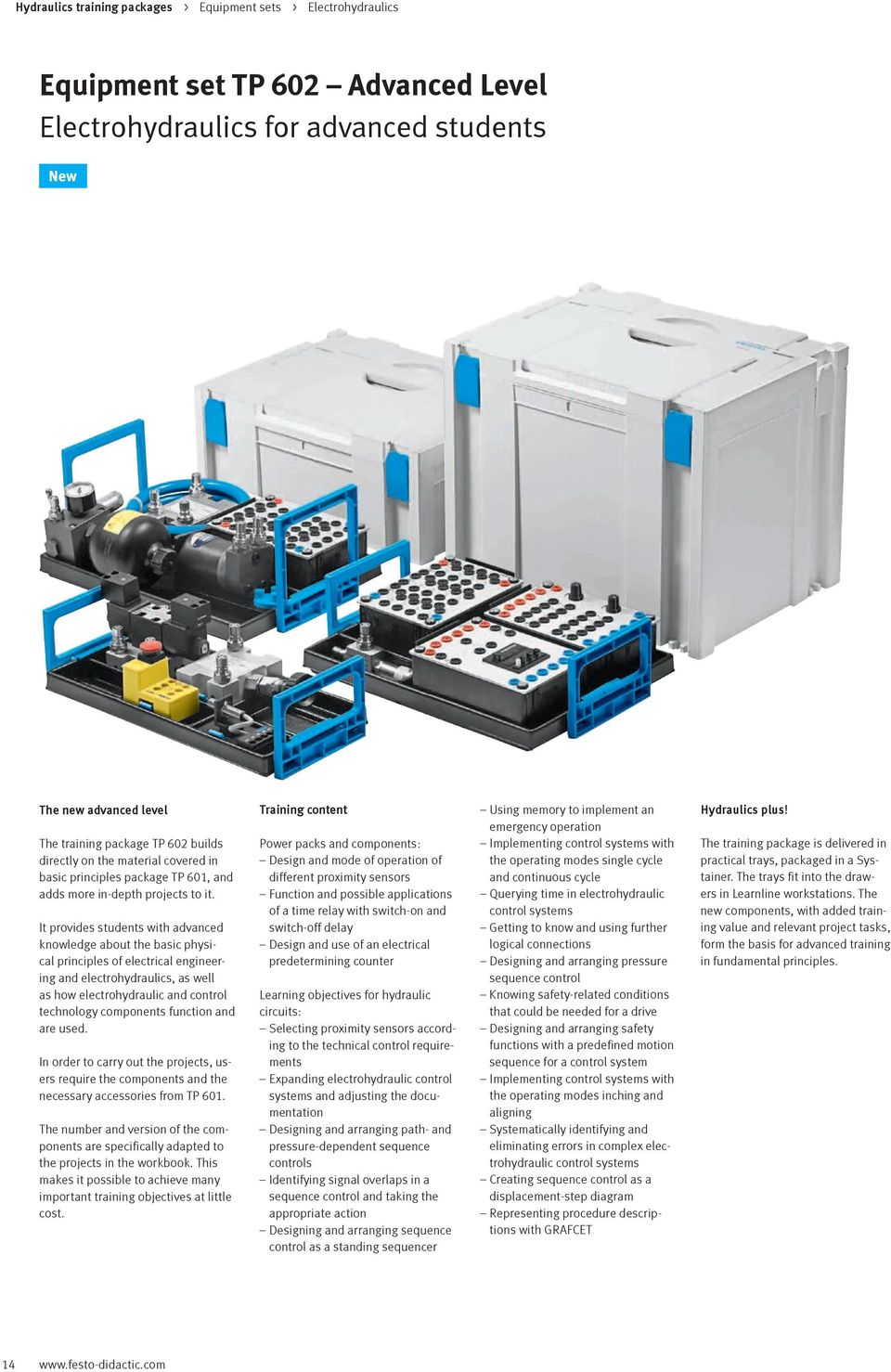 Hydraulics Vocational And Further Training With Festo Didactic Pdf Simple Hydraulic System Diagram Industrial It Provides Students Advanced Knowledge About The Basic Physical Principles Of Electrical Engineering Electrohydraulics