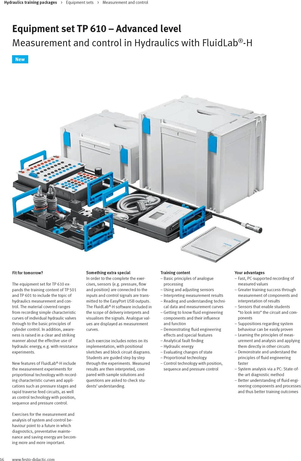 Hydraulics Vocational And Further Training With Festo Didactic Pdf Ac Circuit Experiment Box Electrical Equipment Basic The Material Covered Ranges From Recording Simple Characteristic Curves Of Individual Hydraulic Valves Through To