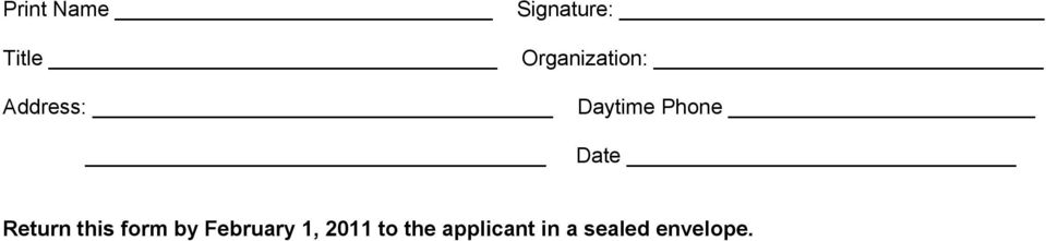 Date Return this form by February 1,