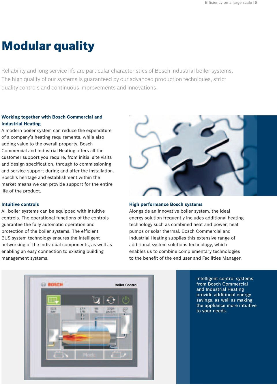 Bosch Commercial and Industrial Heating High efficiency steam ...