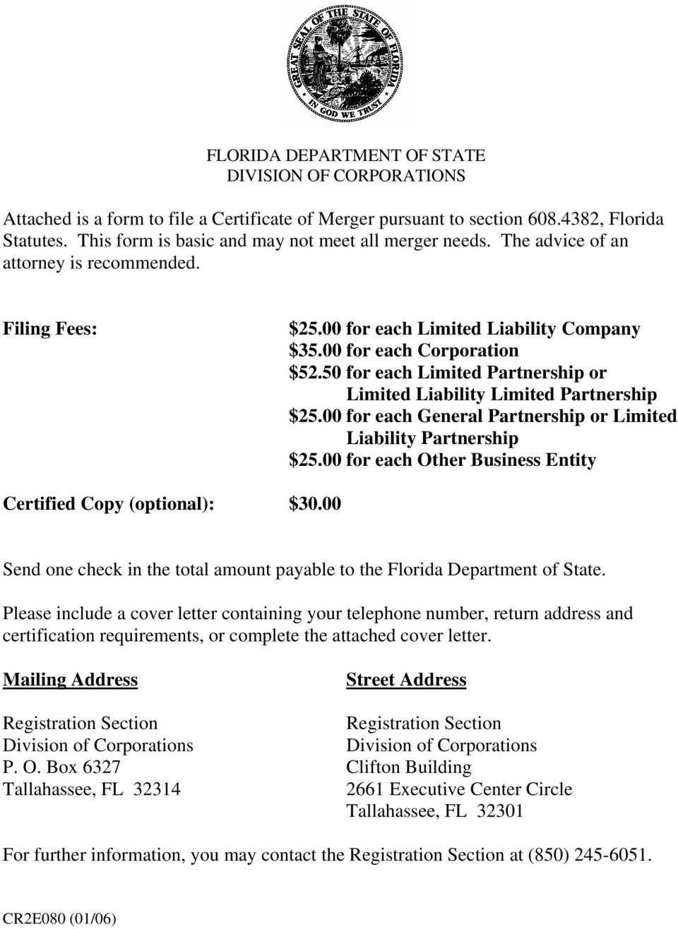 FLORIDA DEPARTMENT OF STATE DIVISION OF CORPORATIONS - PDF