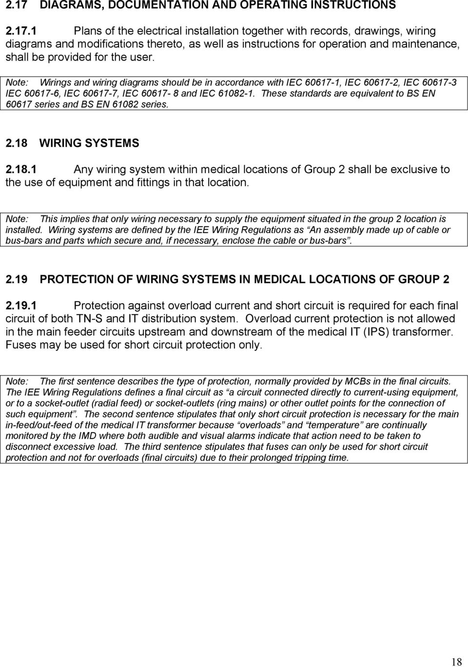 Healthcare Interpretation Of Iee Guidance Note 7 Chapter 10 And Electrical Installation Full Page Guide Wirings Wiring Diagrams Should Be In Accordance With Iec 60617 1