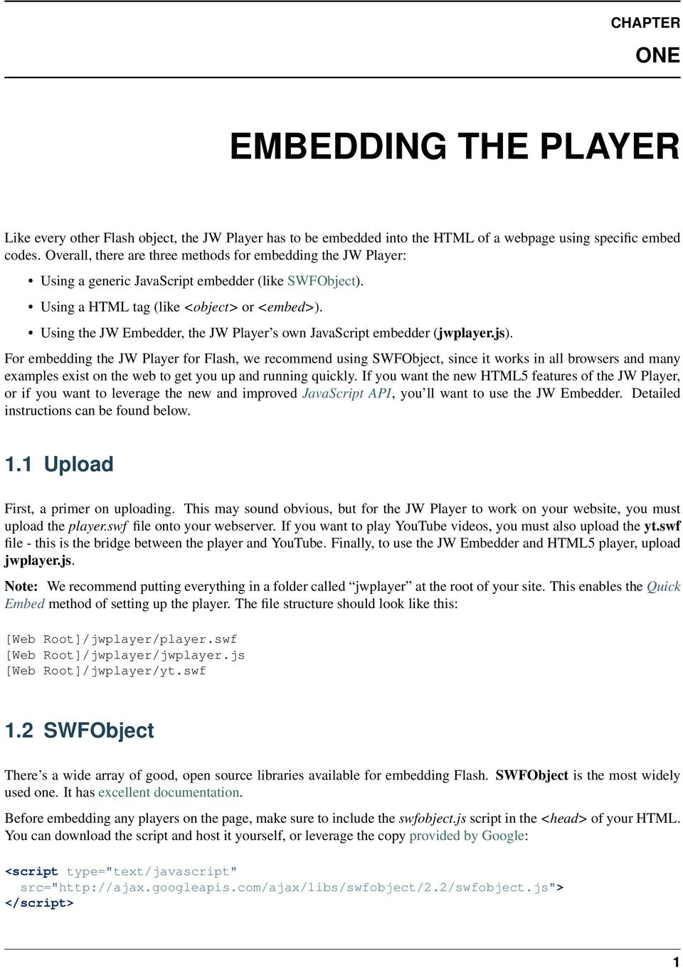 JW Player for Flash and HTML5 - PDF