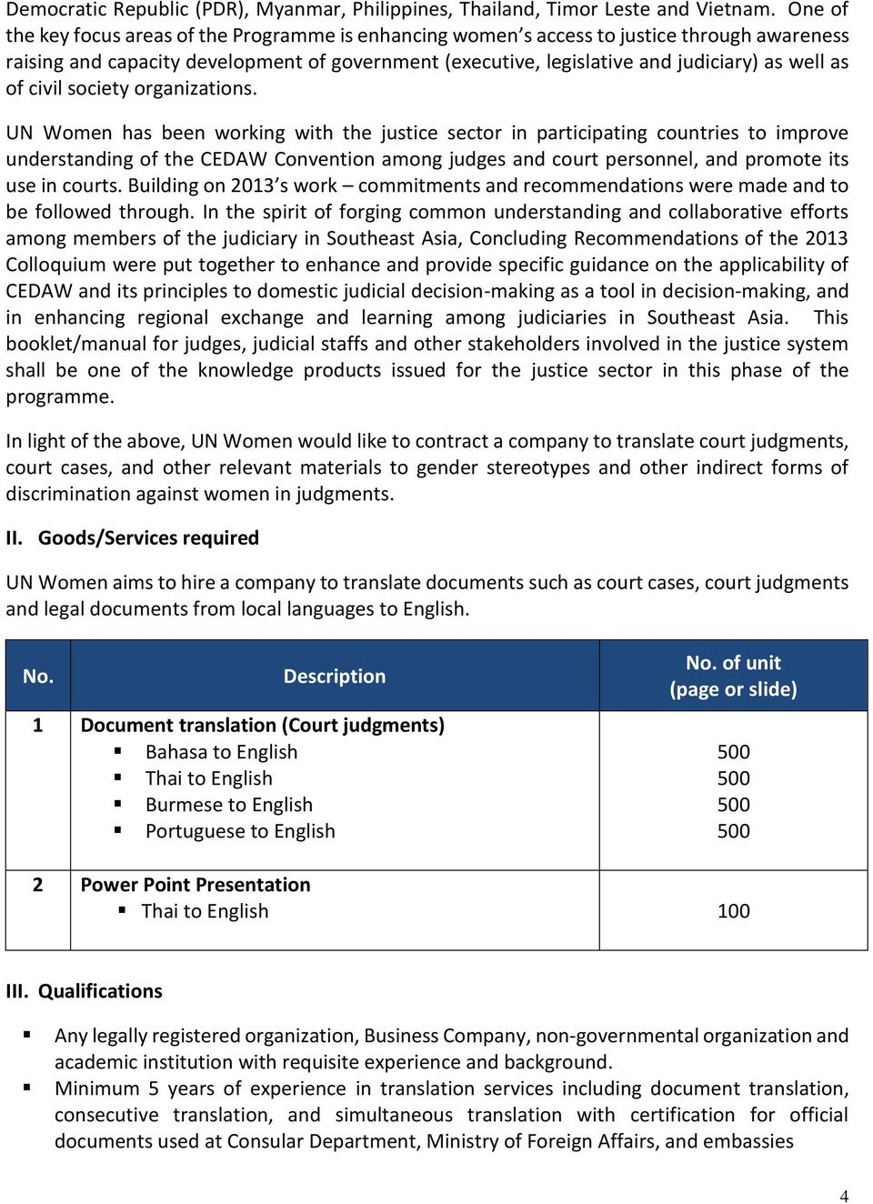 REQUEST FOR QUOTATION (RFQ) Translation Services - PDF