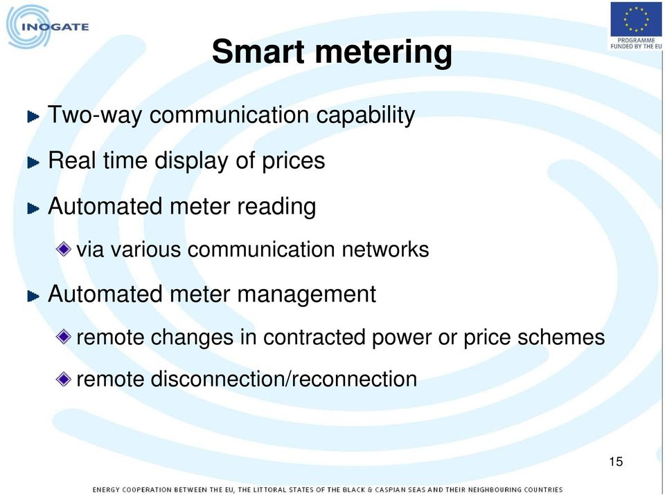 communication networks Automated meter management remote