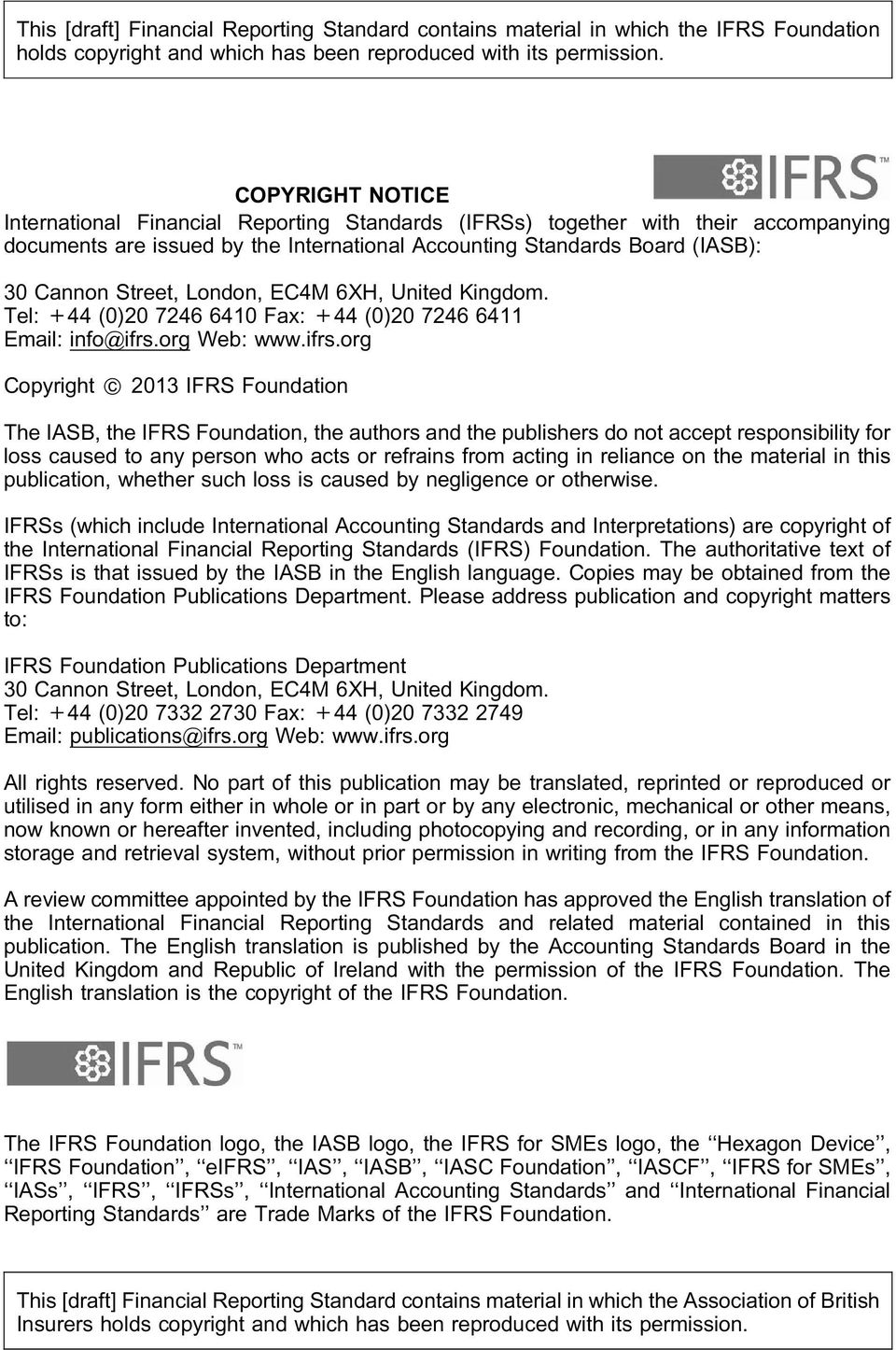 FRED 49 Draft FRS 103 Insurance Contracts - PDF