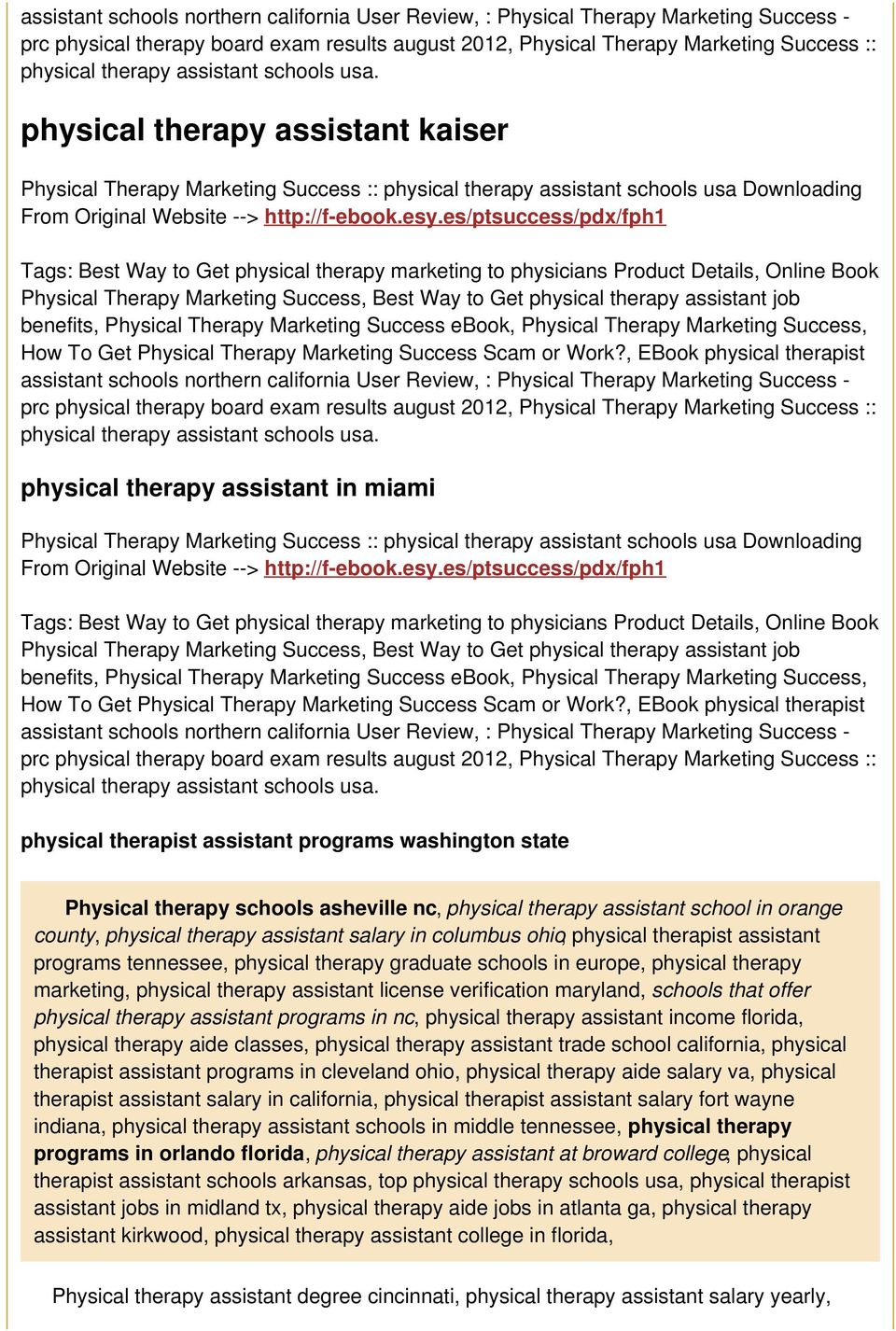 Physical Therapy Marketing Success :: physical therapy