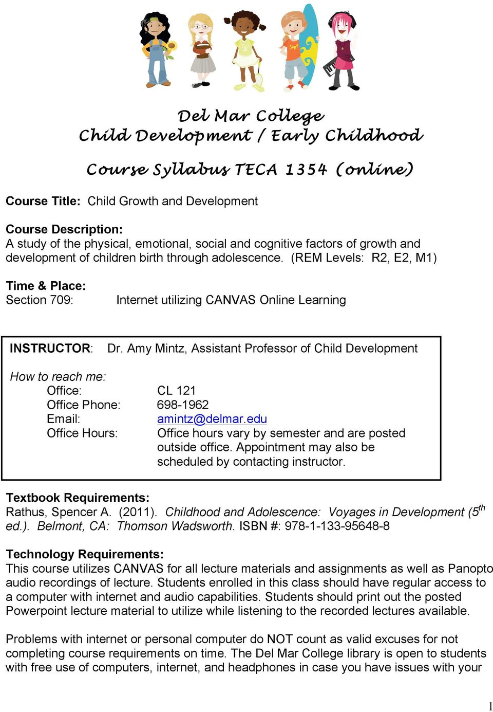 Del Mar College Child Development Early Childhood Course Syllabus
