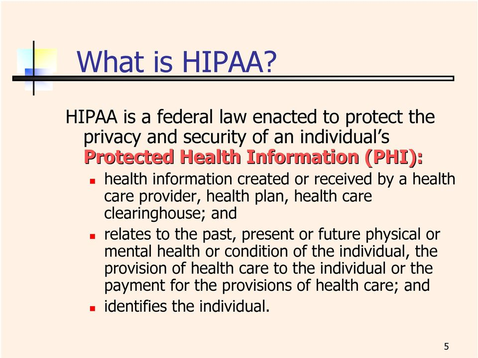 Health Insurance Portability And Accountability Act Of 1996 Hipaa