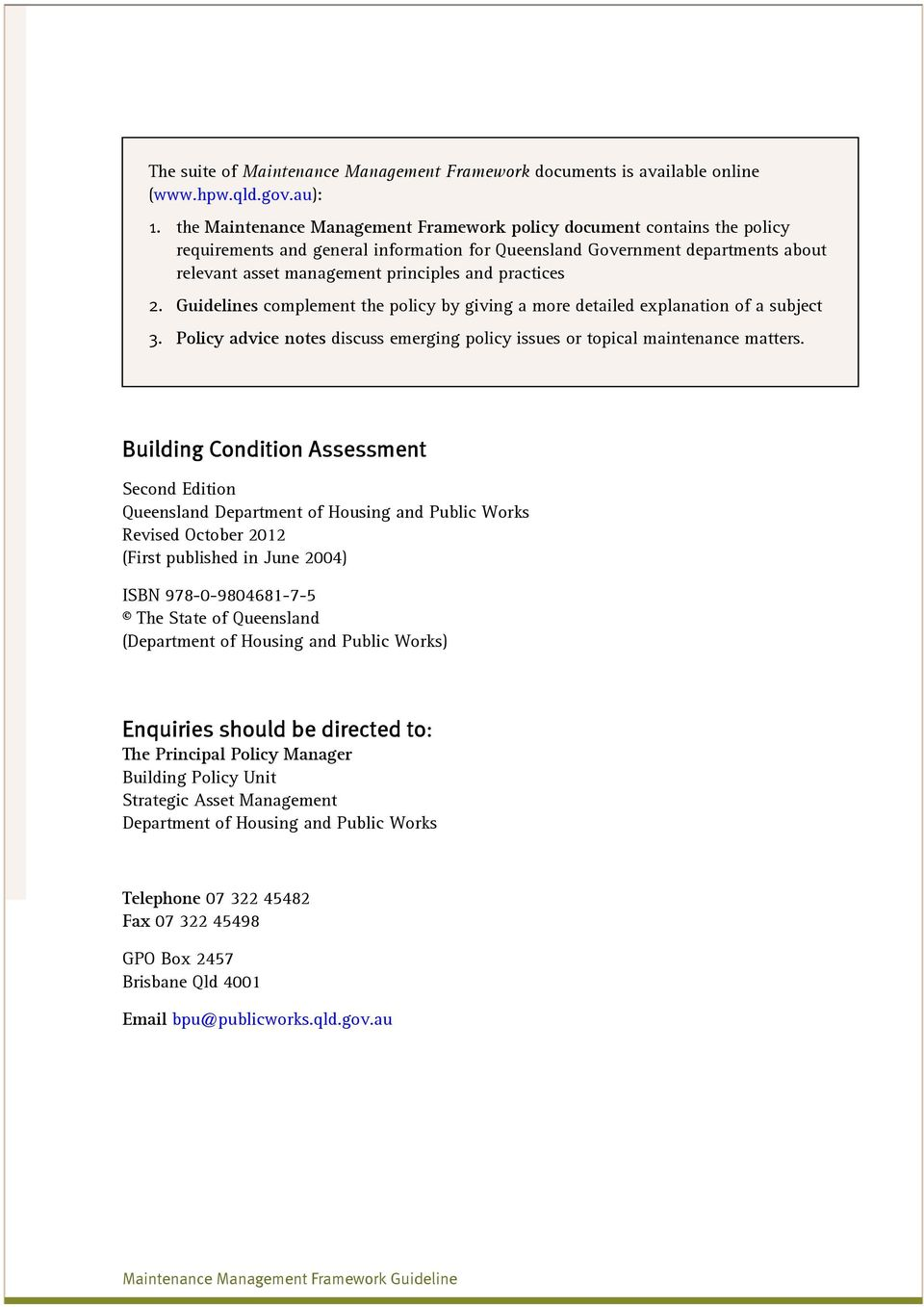 Building Condition Assessment - PDF