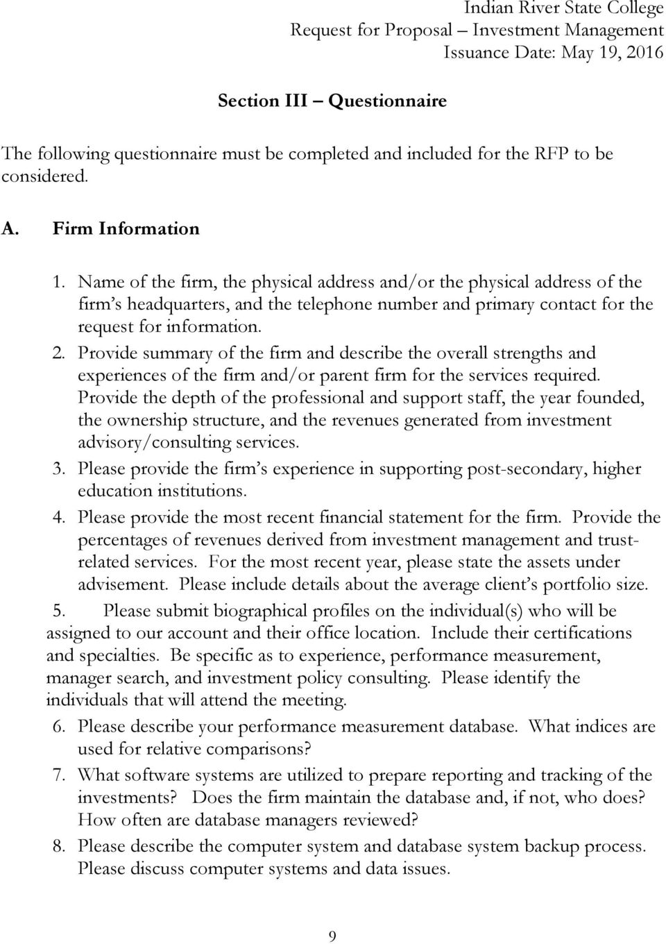 RFP 15/ Request for Proposal  Investment Management - PDF