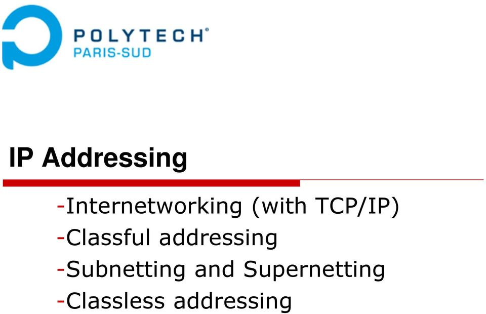 TCP/IP) -Classful addressing