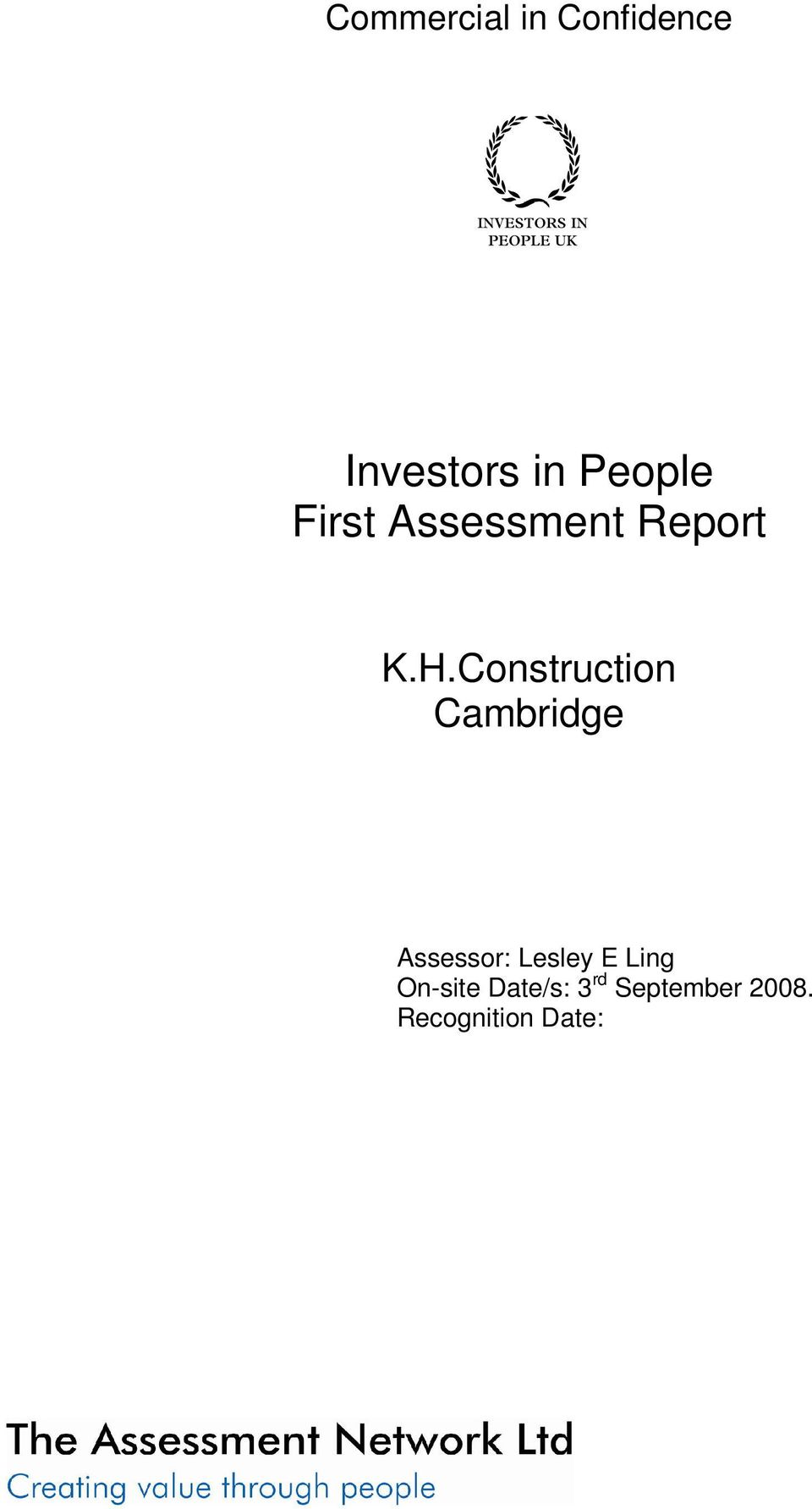 Construction Cambridge Assessor: