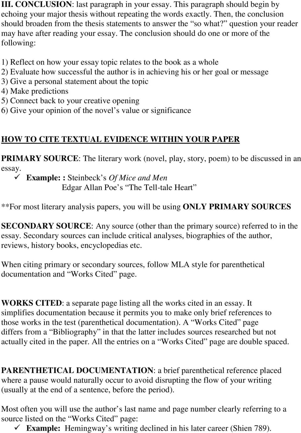 A Guide To Writing The Literary Analysis Essay PDF Free