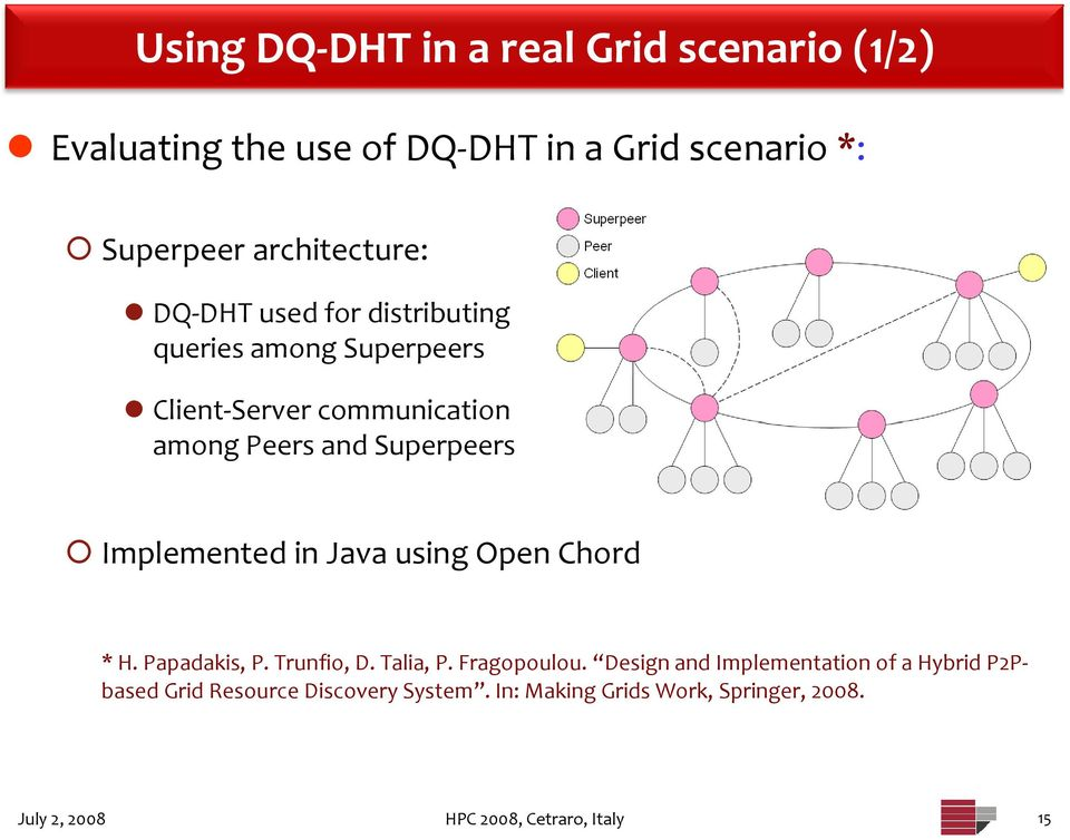 Using Peer to Peer Dynamic Querying in Grid Information Services - PDF