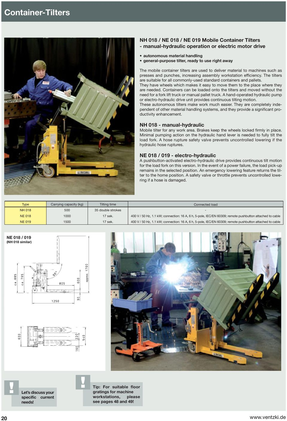 Handling Systems Your Partner For Efficiency And Ergonomics Pdf Spannfixcircuitboardholder The Tilters Are Suitable All Commonly Used Standard Containers Pallets They Have