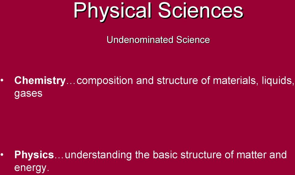 materials, liquids, gases Physics