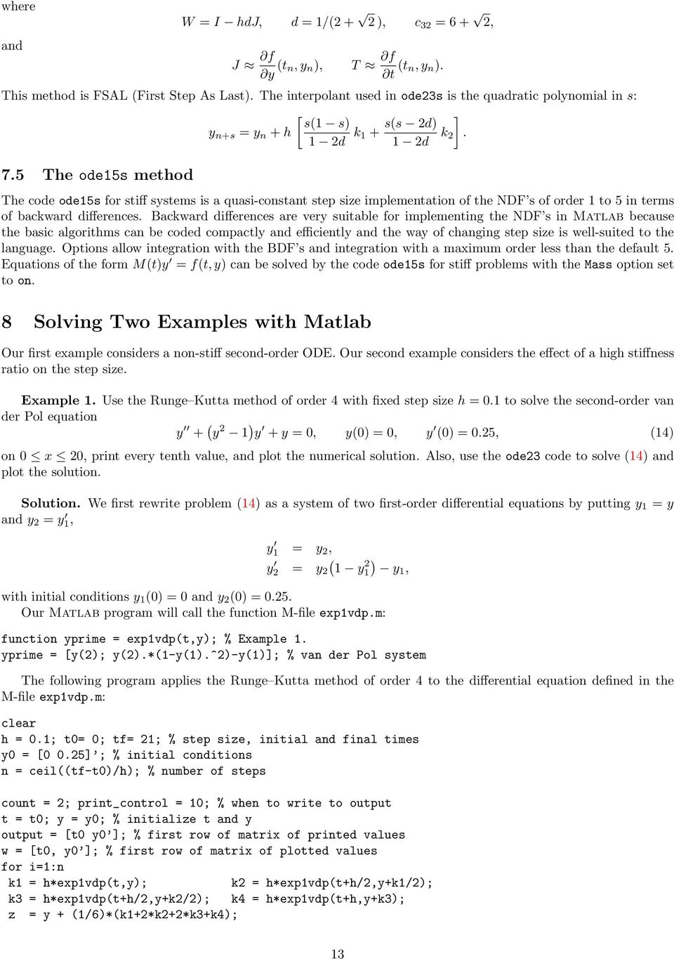 Behind and Beyond the MATLAB ODE Suite - PDF