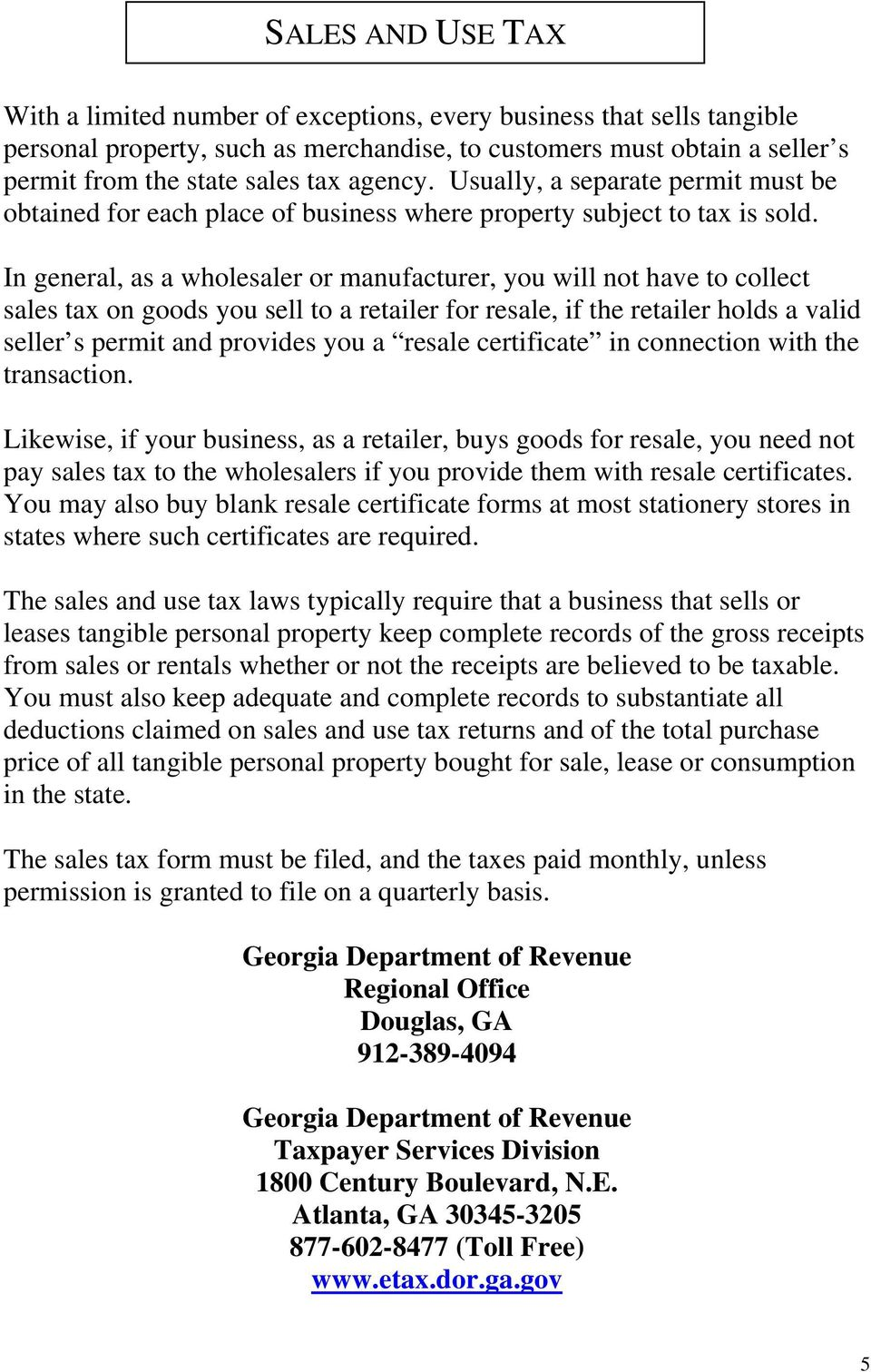 Lowndes County Licensing And Tax Guide Pdf