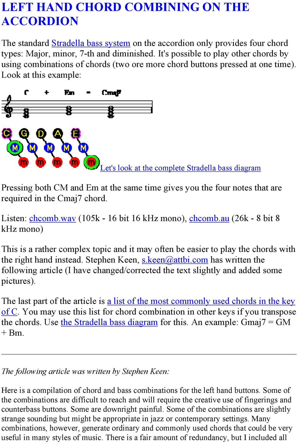 LEFT HAND CHORD COMBINING ON THE ACCORDION - PDF