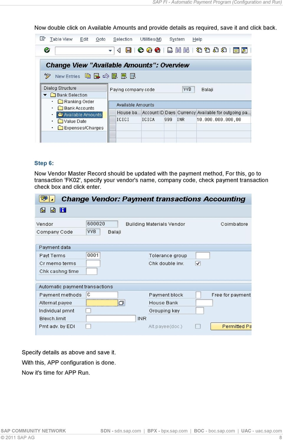 SAP FI - Automatic Payment Program (Configuration and Run) - PDF