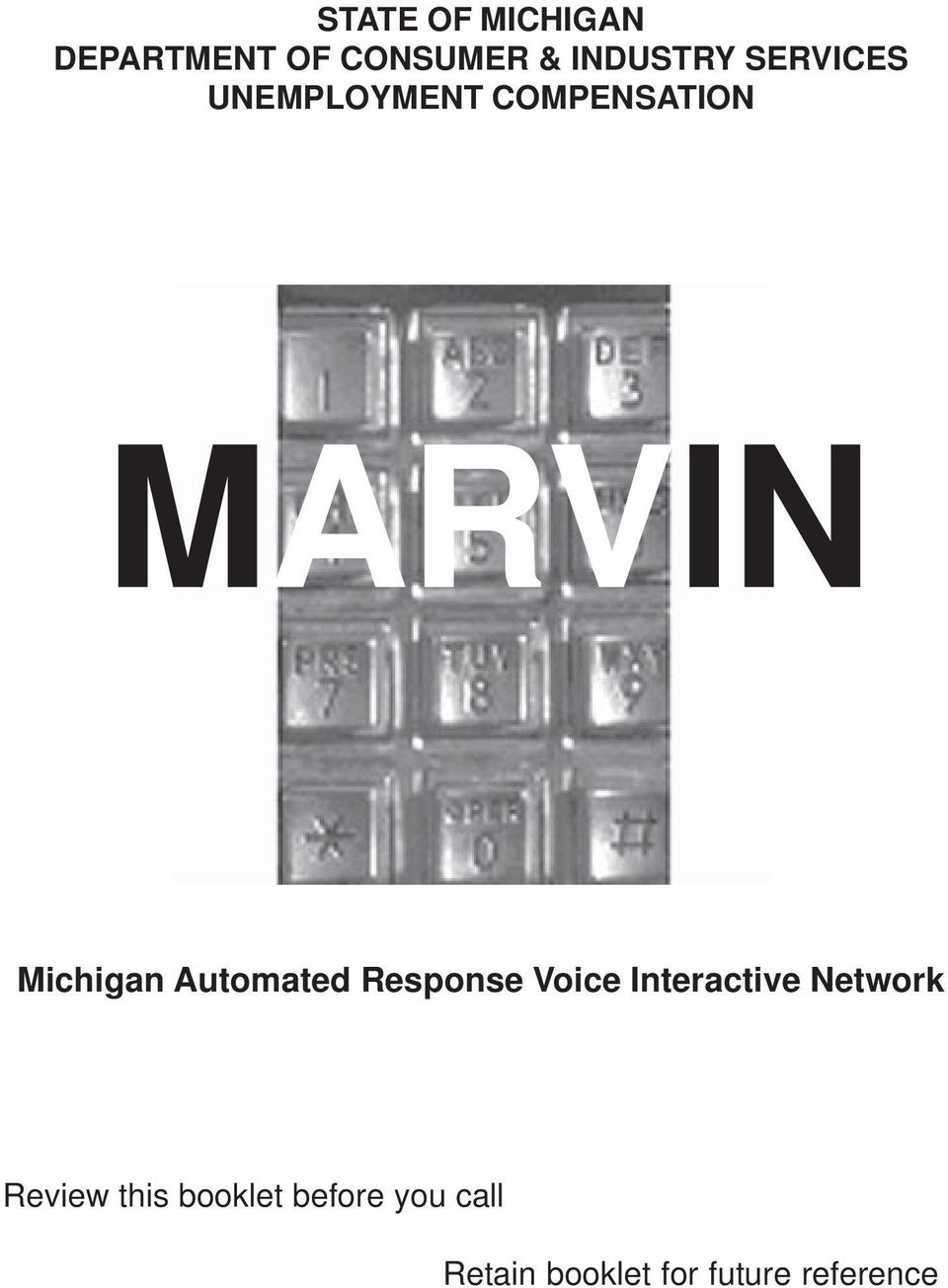 State Of Michigan Department Of Consumer Industry Services Unemployment Compensation Marvin Pdf Free Download