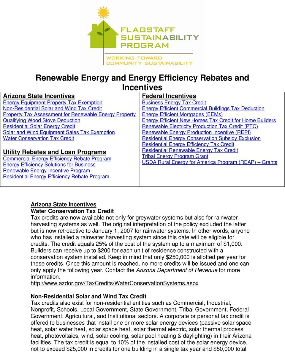 Commercial Energy Efficiency Rebate Program Energy Efficiency Solutions for Business Renewable Energy Incentive Program Residential Energy Efficiency Rebate Program Federal Incentives Business Energy
