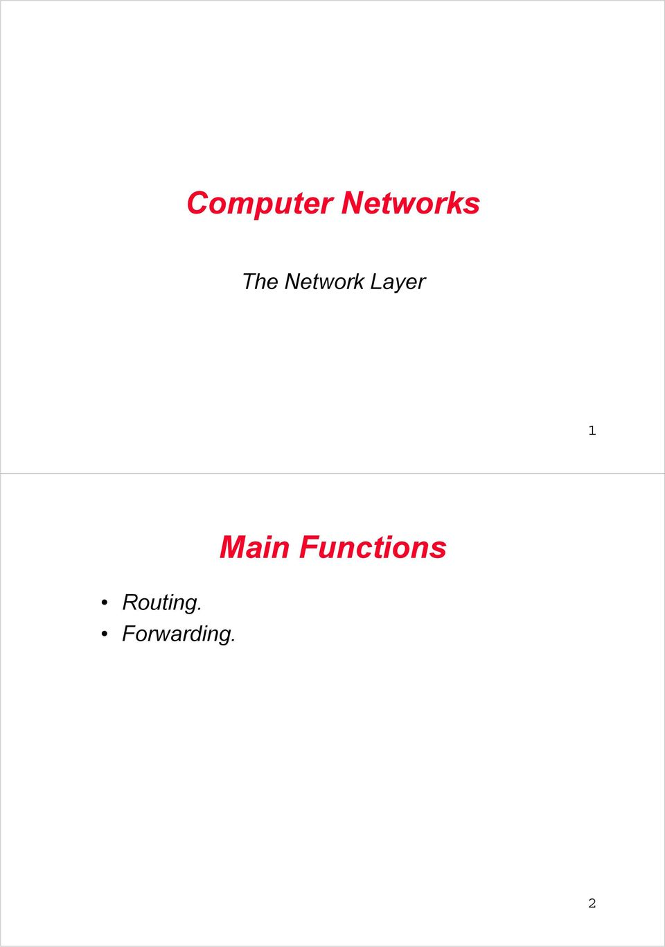 Computer Networks  Main Functions - PDF