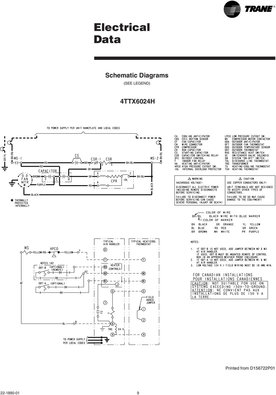 Pressure Switch Wiring Diagrams Trane Xl16i Thermostat Diagram Split System Cooling Product Data Pdf On Auxiliary Lights Comfortmaker 98 Ac