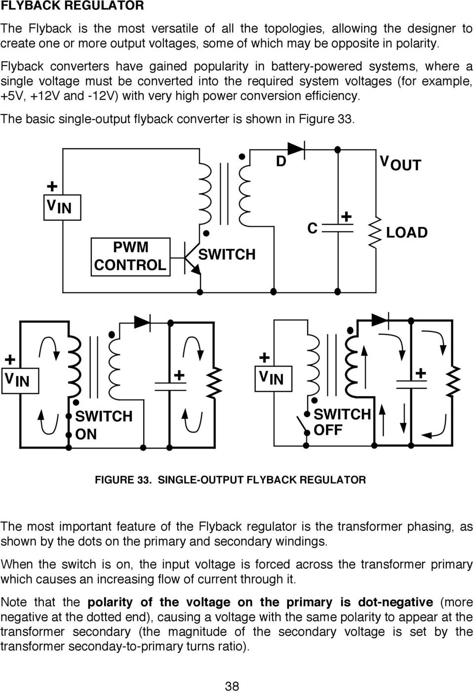 Switching Regulators Pdf Picture Of Versatile Voltage Regulator With Lm317 Conversion Efficiency The Basic Single Output Flyback Converter Is Shown In Figure 33