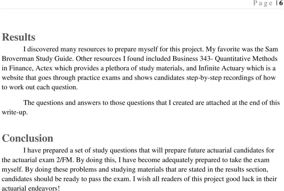 Study Questions For Actuarial Exam 2 FM By Aaron Hardiek June PDF