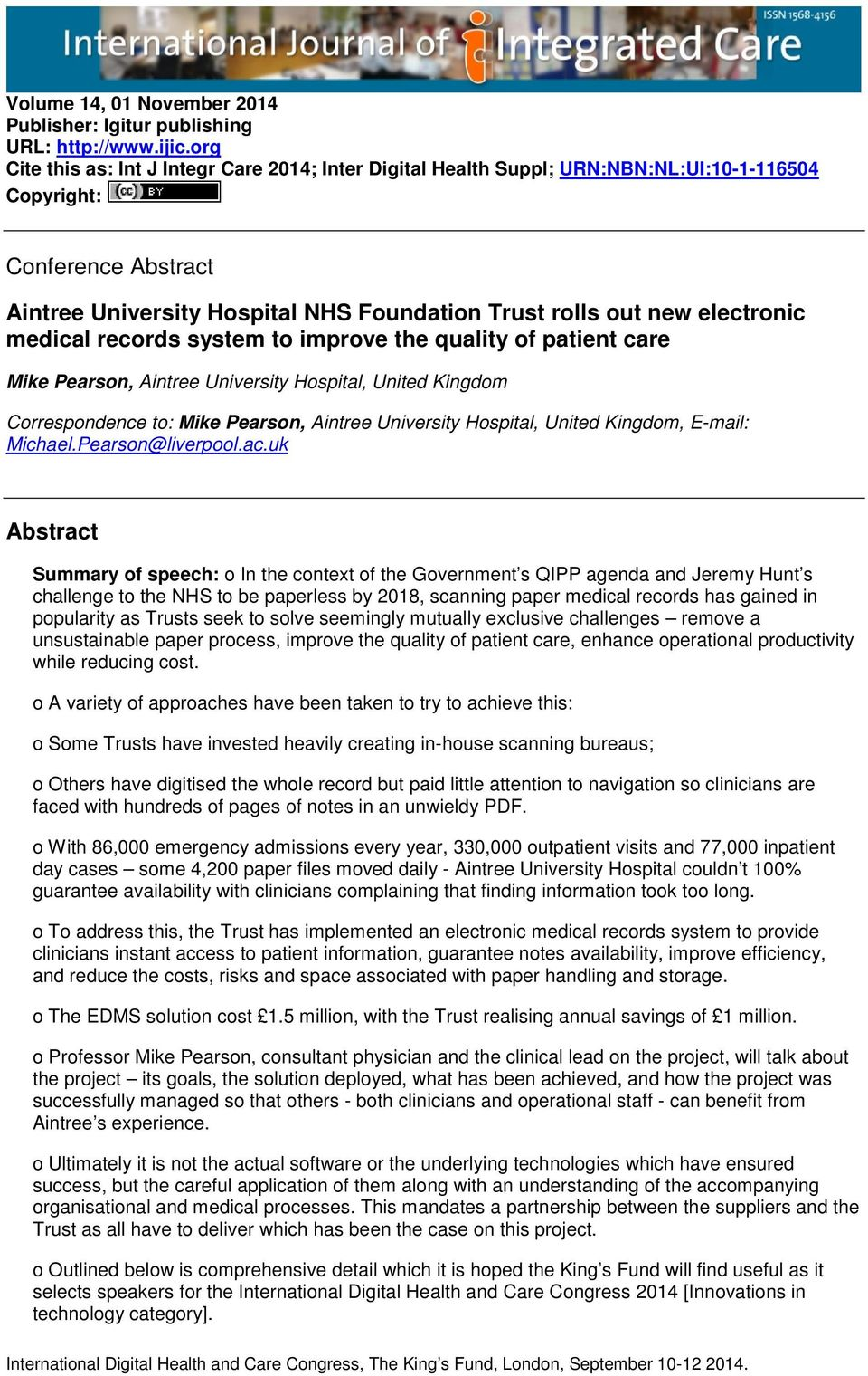 Aintree University Hospital NHS Foundation Trust rolls out new
