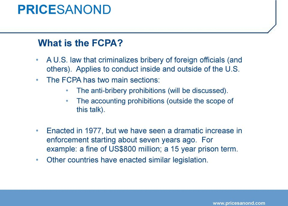 U S Foreign Corrupt Practices Act Fcpa Pdf Free Download