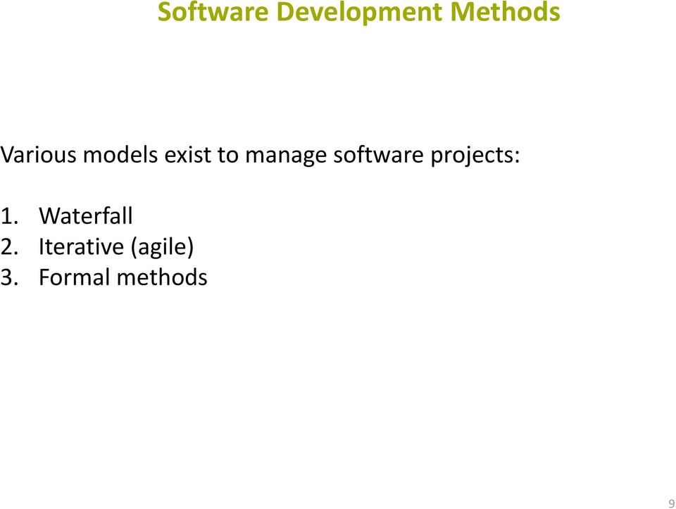 software projects: 1.
