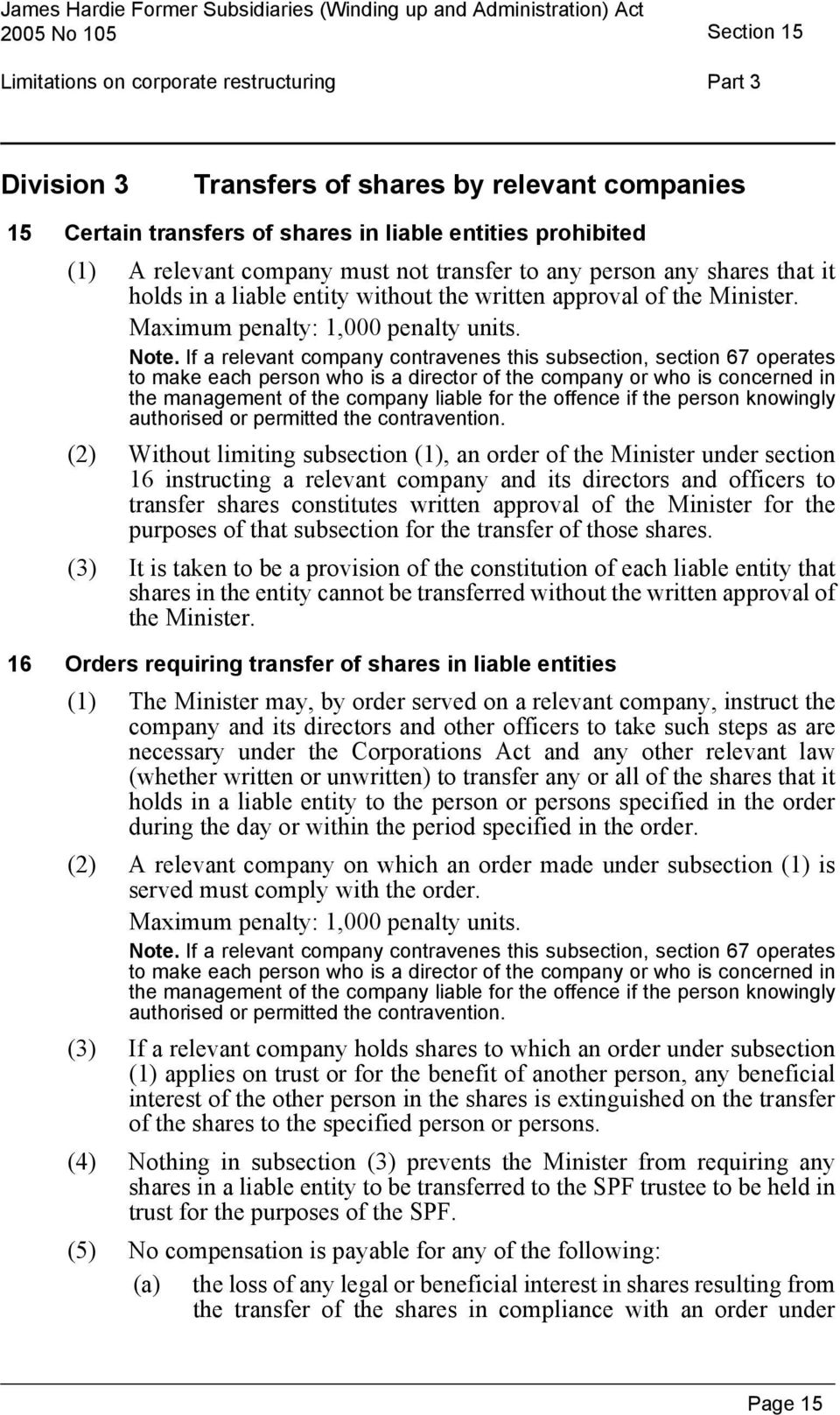 Maximum penalty: 1,000 penalty units. Note.