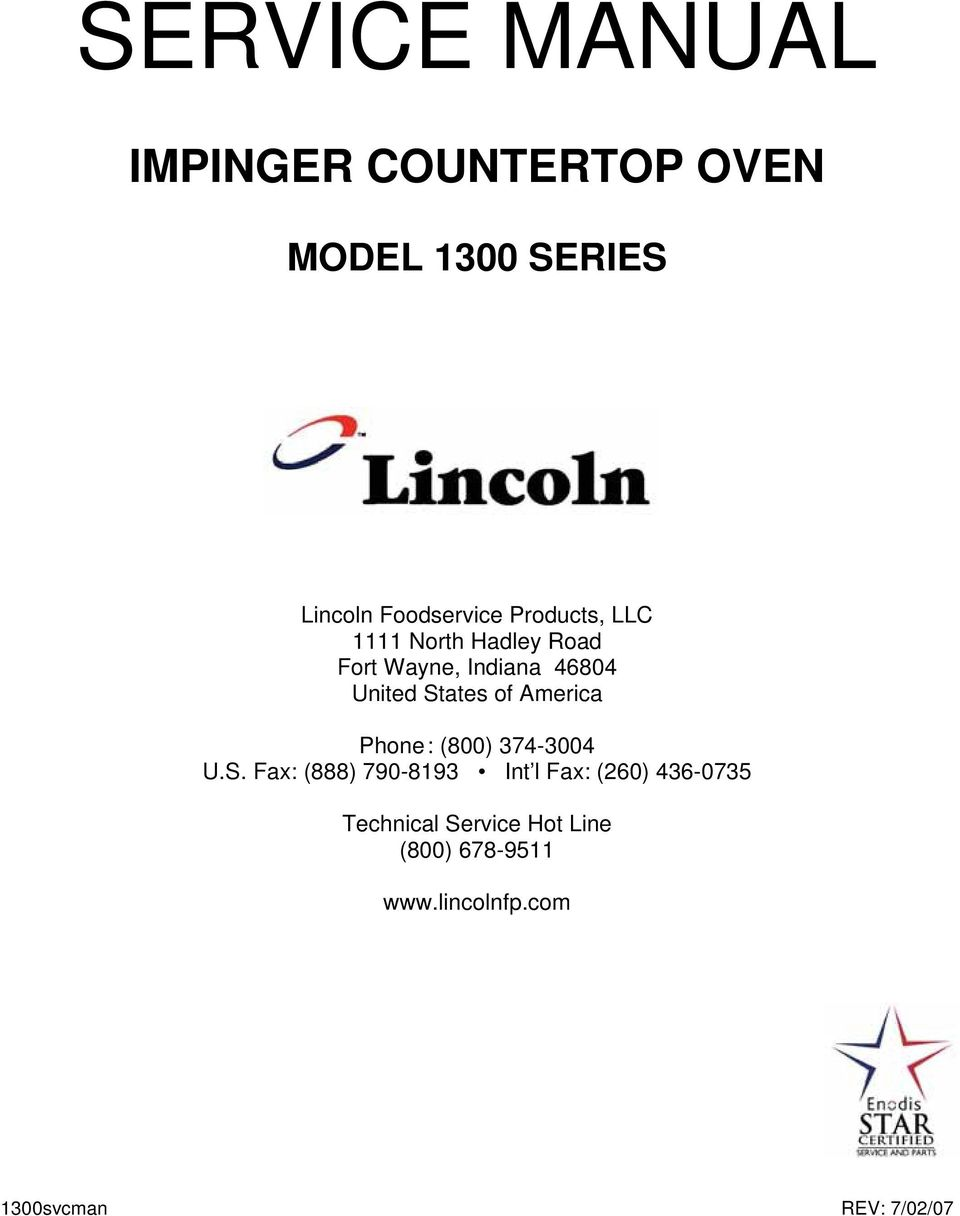 service manual impinger countertop oven model 1300 series pdf 1965 lincoln continental wiring-diagram lincoln impinger 1301 wiring diagram #47