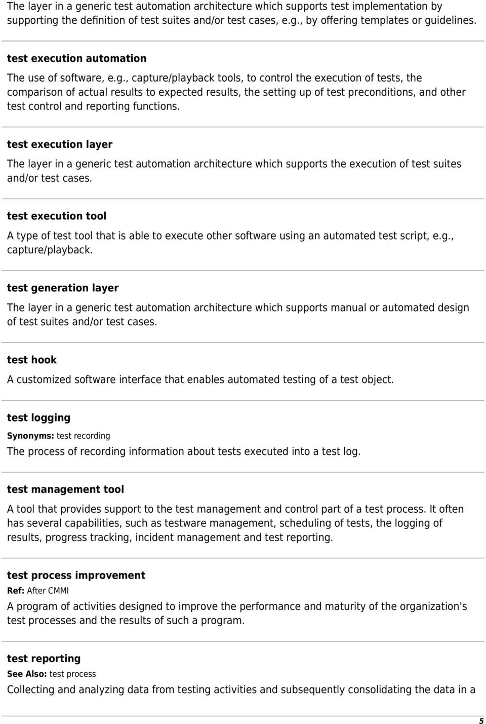 Standard Glossary of Terms Used in Software Testing  Version PDF